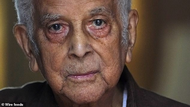 In other parts of the US, Evanston is being used as a model for cities to move forward with reparations. Professor Edwin Driver (pictured), 96, shared his story about arriving in Amherst in 1948 and being denied pay raises for decades