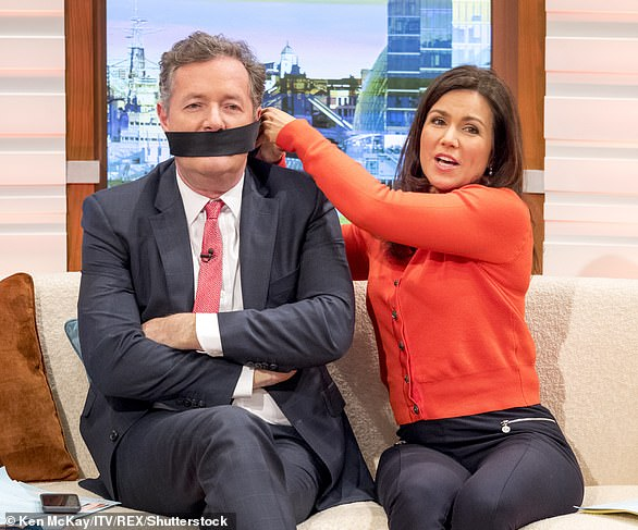 Reid, 50, said: 'He totally wound me up from the moment he joined Good Morning Britain. He's the most annoying man I've ever met, but I find working with him exhilarating. Yes, he drives me nuts, but he also makes me laugh - and when the chips are down, and there's a big news story breaking or we're doing a controversial interview with a politician, I trust him'
