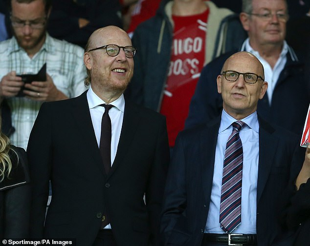 Avram (left) and Joel Glazer are the co-chairman of Manchester United with the former looking to sell £71.5million worth of his shares of which none will go towards the club