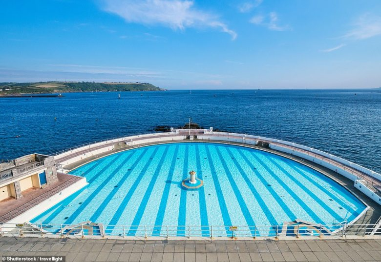 Tinside Lido in Plymouth is regularly voted as one of the most stunning in Europe, even though it's a little chilly