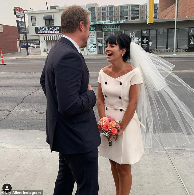 Smitten: The star, who married Stranger Things actor David in Las Vegas last year - pictured, is currently staying in his native New York with her two daughters