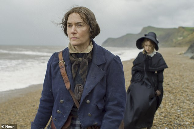 Expertise:The actress portrays real-life English palaeontologist Mary Anning in the film, which sees her embark on a secret relationship with Charlotte Murchison (Saoirse Ronan, right)