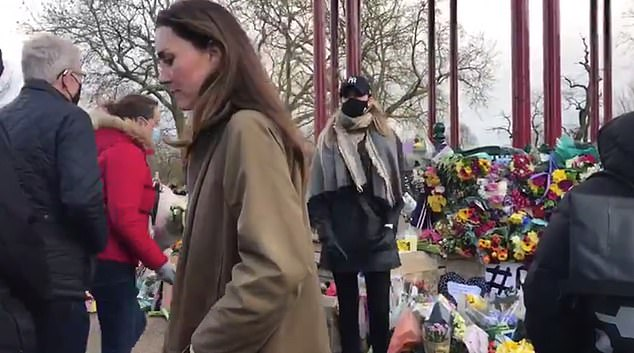 Kensington Palace said Kate (pictured) 'wanted to pay her respects to the family and to Sarah', reported Sky . 'She remembers what is was like to walk around London at night before she was married,' the palace added