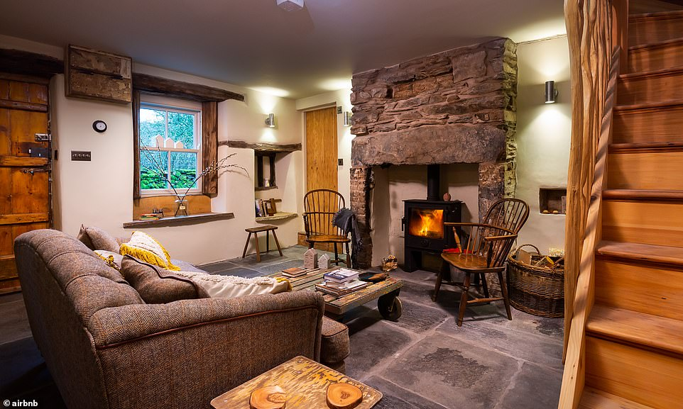 Over to reviewer Tommy for a summation of this cottage for two: 'A lovely cosy gem. [A] roaring log fire to sit beside and [in a] gorgeously crafted cottage. Everything has been thought of. Minute touches really add up to make an unforgettable trip. A stellar bathroom along with a breathtaking bedroom make this a must return.' It costs £208 a night