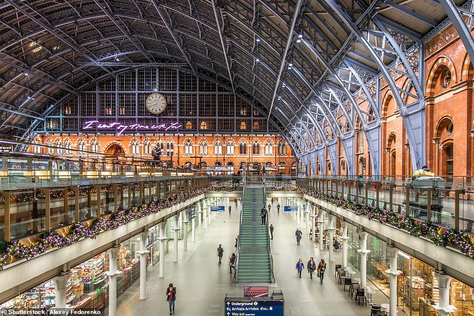 A wedding at the Grade I-listed St Pancras International Station in London, pictured, could be just the ticket