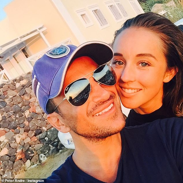 Loved: Peter Andre shared a rare throwback photo with his wife Emily on Instagram on Monday night