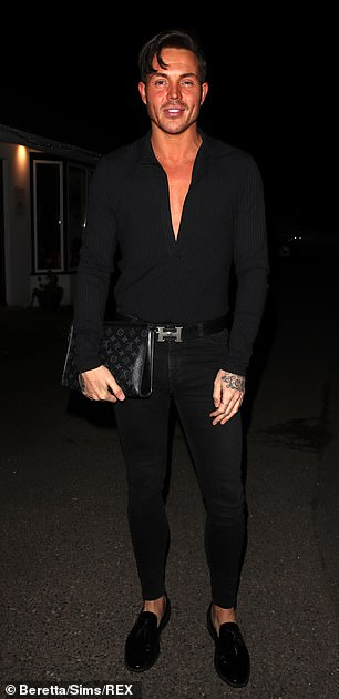 Smart: Bobby Norris also headed into the restaurant for filming