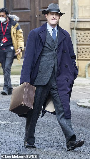 Coming soon: Star Nicholas Ralph suited up to play James Herriot