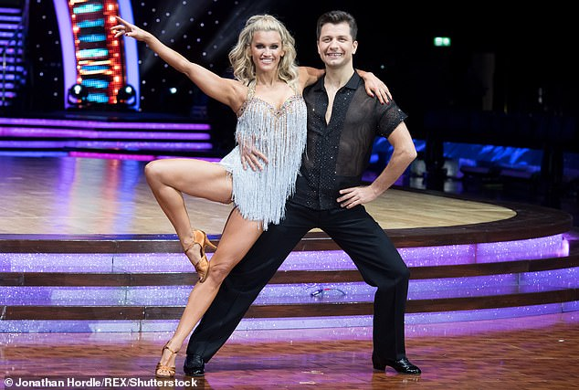 Keep dancing! Rachel said Maven is following in Pasha's footsteps as she shares the same passion for dancing (Pasha pictured with Ashley Roberts on Strictly in 2019)