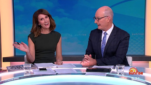 New queen of Sunrise: The Sunrise hosting role eventually went to Natalie Barr (left), who had worked at the top-rating breakfast show for 18 years. Pictured with Sunrise co-host David 'Kochie' Koch