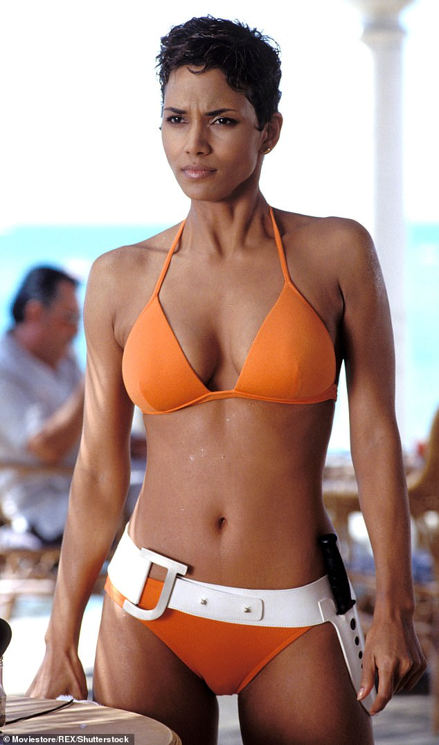 Wow!  The actress made her heart beat when she stepped out of the sea in a tiny thong bikini almost 20 years ago (pictured in 2002)