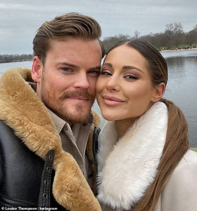 Happy couple: Louise is engaged to personal trainer and former Made In Chelsea co-star Ryan Libbey, 30, who she has been in a relationship with since 2016 (pictured)