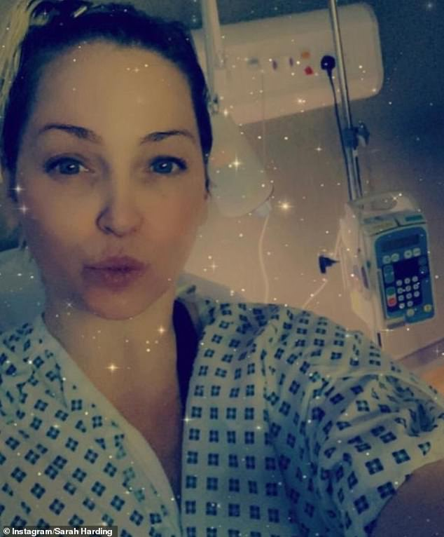 Fighter:Tumours in Sarah Harding's brain and lung have shrunk with treatment, following her breast cancer diagnosis last year
