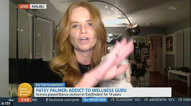 No thanks!Patsy Palmer refused to take part in a Good Morning Britain interview live on air after she saw they had branded her 'addict to wellness guru'
