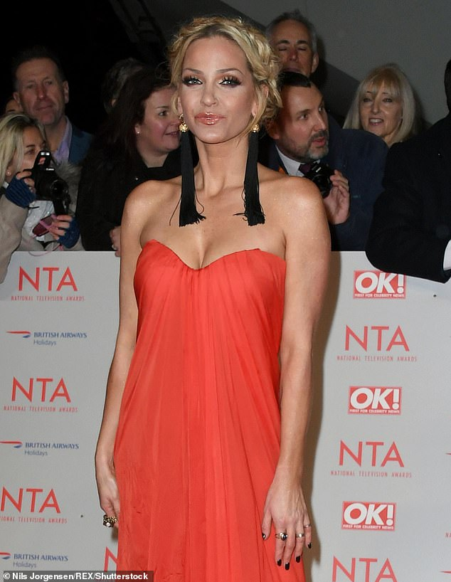 Embattled: Sarah Harding has admitted that quitting cocaine and going to rehab was a 'do or die' situation [pictured in 2018]