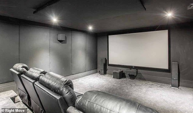 Extras: The house has a cinema room complete with a large screen and comfy seating area that will give Jacqueline and Dan's children the space to watch films, as well as give the couple a romantic spot for date nights