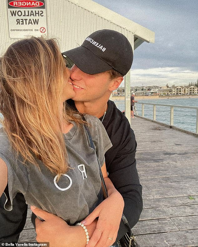 'He makes me happier than pineapple on pizza': The touching moment between the pair comes after Bella shared a sweet tribute to Will on Tuesday