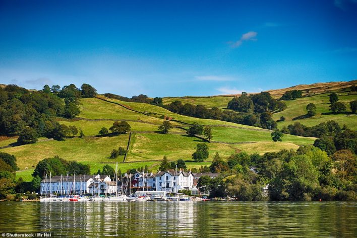 Windermere in Cumbria, pictured, is third on the list of the fastest-growing destinations in the UK by search volume