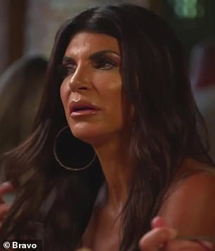 Shove it: Teresa agreed to invite her, but Jackie wasn't ready to make-up and relayed via Melissa that Teresa 'can take the olive branch and shove it up her f***ing a**'