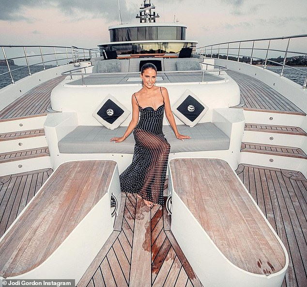 Glamorous celebrations! Last month, Jodi shared images from her birthday bash in February, which took place on a chartered yacht in Sydney Harbour. She flaunted her fabulous figure in a sheet polka dot dress