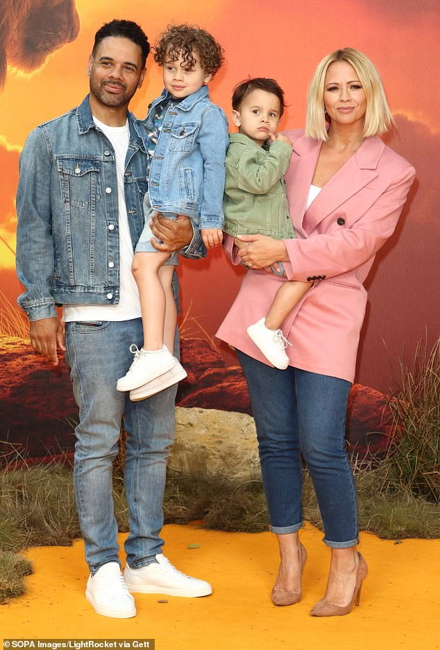 The next generation: Kimberley Walsh, 39 - who is pregnant with her third child - is mum to sons Bobby, six, and Cole, four (Pictured in 2019)