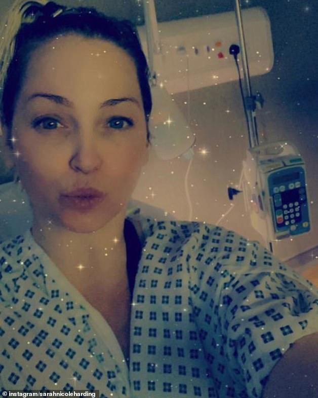 Warning: Sarah Harding has revealed she went public with her devastating cancer diagnosis to warn those who may be delaying doctor visits amid the COVID-19 pandemic