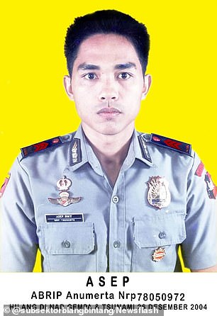 Police officer Abrip Asep before his disappearance