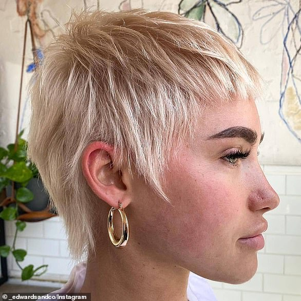 'Timeless, classic and bold', Mr Edwards predicts a revival of the '90s-inspired pixie cut in 2021