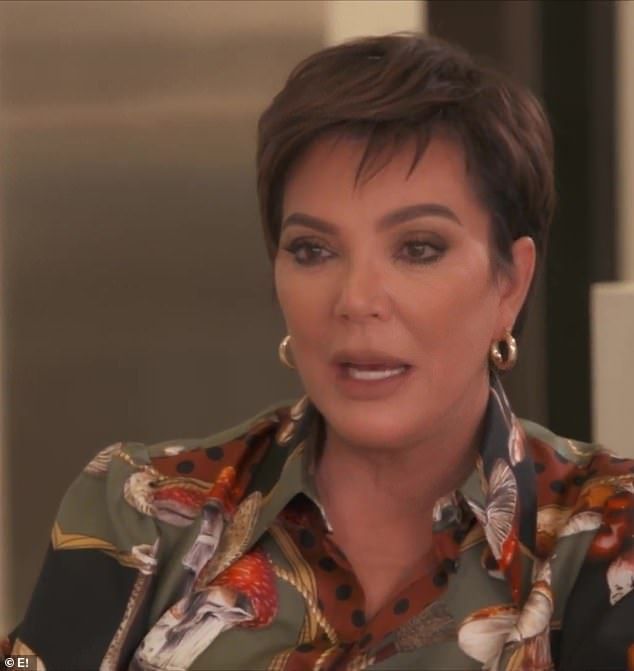 'Concern': Mother Kris Jenner, pictured, discussed her concern for her daughter as she deals with her divorce during the season 20 premiere of Keeping Up With The Kardashians last week