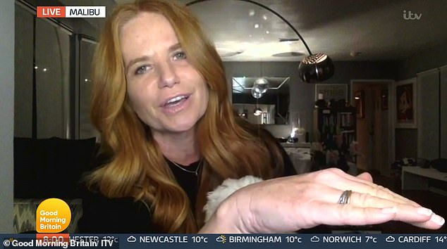 Fuming: During Wednesday's show, the former EastEnders actress, 48, shut down a video interview from her Malibu home after taking exception to the ITV show's strap line, saying her 20-year battle with drink and drugs was 'many, many years ago'