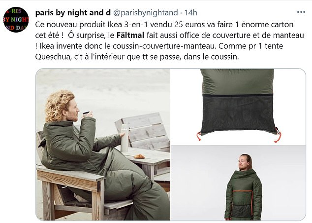 ikea release a camping cushion that can