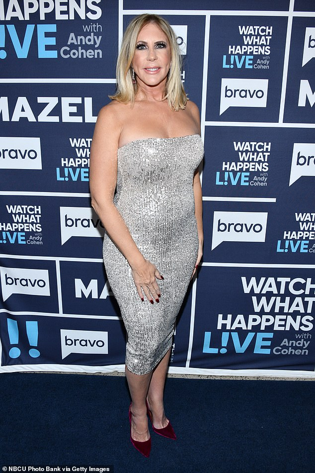 Later: Vicki Gunvalson has been dropped from an upcoming Real Housewives spin-off and insiders have said she got to boot for being 'in breach' of her contract
