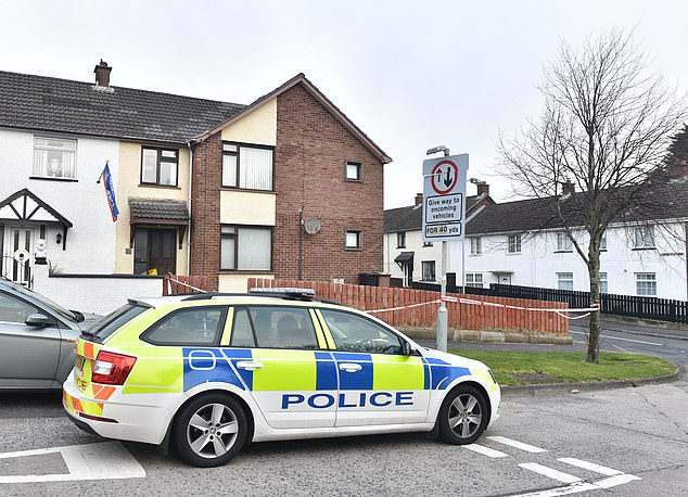 Detectives investigating the double murder say they are linked and they are not looking for anyone else in connection to the deaths. Pictured: Police at the scene on Friday