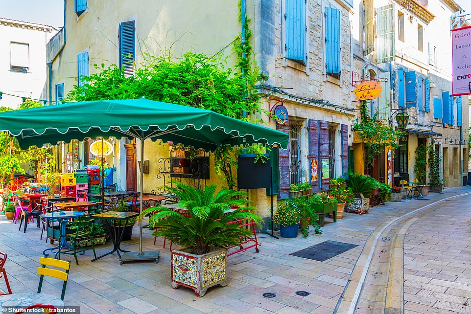 Charming: Monsieur Durand's chocolate shop is located in St Remy. Pictured is one of the town's pretty narrow streets