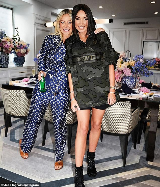 No longer friends:u00A0The wedding had been organised by Jess' former friend Roxy Jacenko (left), who was also set to be a bridesmaid. But they are believed to have had a recent fall-out and cut ties