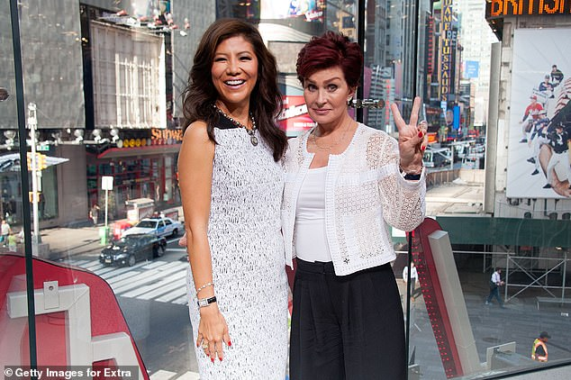 Sharon Osbourne (right) pictured with her former co-host Julie Chen in 2015
