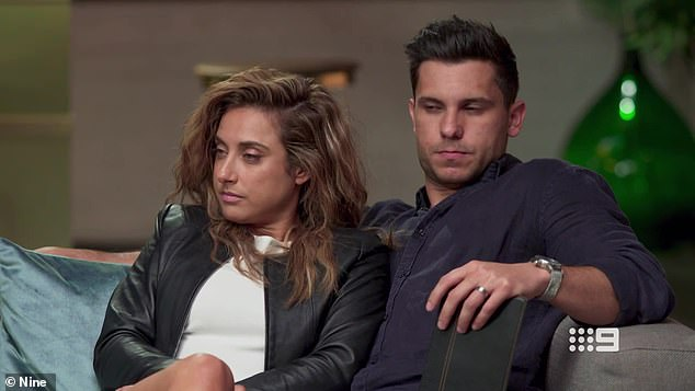 Oh dear:u00A0On Sunday night's episode of Married At First Sight Australia, Johnny Balbuziente (right) admitted he was frustrated in his relationship with his new bride, Kerry Knight (left)