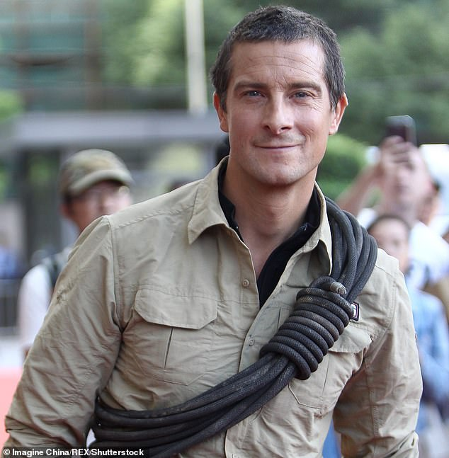 Bear Grylls (pictured) has been granted permission to install two 'Private Property' signs warning tourists to stay off the Welsh island where he and his family live part-time