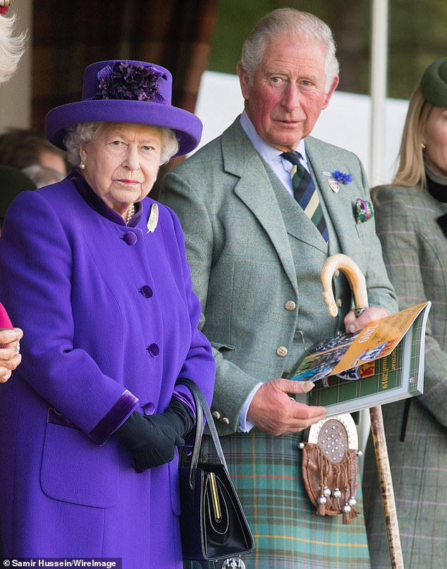 The Channel 4 documentary, Queen Elizabeth: Love, Honour and Crown, which airs tonight at 9pm, sees royal commentators discussing the Queen's relationship with her oldest son, and heir to the throne. Author Clive Irving said the Monarch is 'constantly frustrated' with Prince Charles (Pictured: The Queen and Prince Charles at the 2019 Braemar Highland Games)