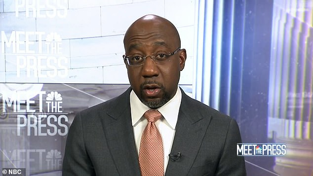 Georgia Democratic Senator Raphael Warnock on Sunday took credit for 'saving the country' by winning his runoff Senate election and voting to pass the $1.9 trillion coroanvirus relief plan