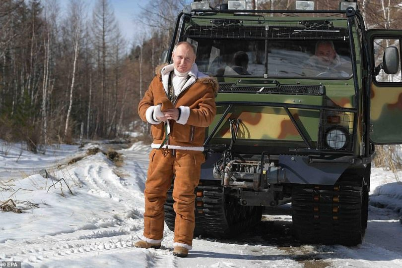 Russian President Vladimir Putin spends his leisure time in the Siberian Federal District