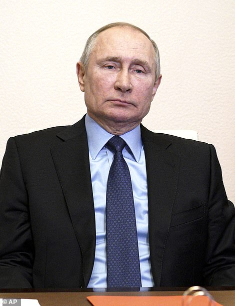 The Kremlin said it regretted the UK's decision to increase its nuclear arsenal, after Britain unveiled plans to bolster its stockpile from 180 warheads to 260 by the end of the decade. Pictured: Russian President Vladimir Putin