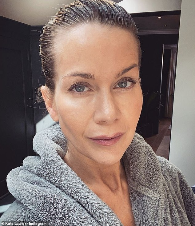 Candid:u00A0Kate Lawler has admitted she feels guilty about wanting to stop breastfeeding her five-week-old daughter Noa