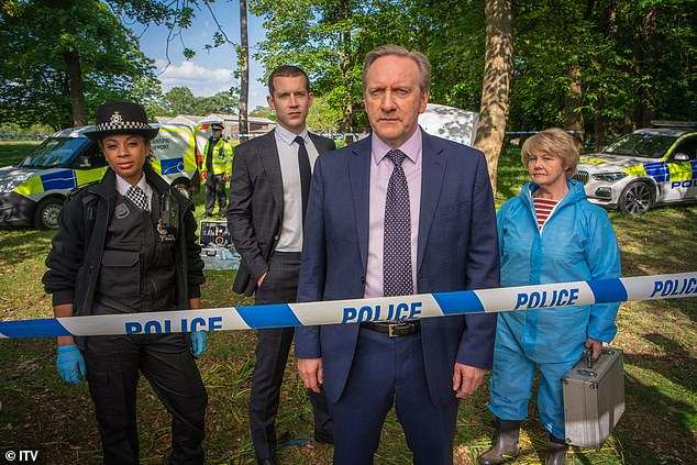 DCI Barnaby (Neil Dudgeon, front)u00A0never does any detecting in Midsomer Murders