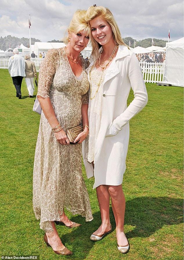Baroness Jacqueline Van Zuylen with her daughter Allegra pictured back in October 2010