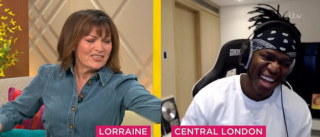 Mouse in the house: Lorraine then claimed there was a rodent running across the studio during the interview