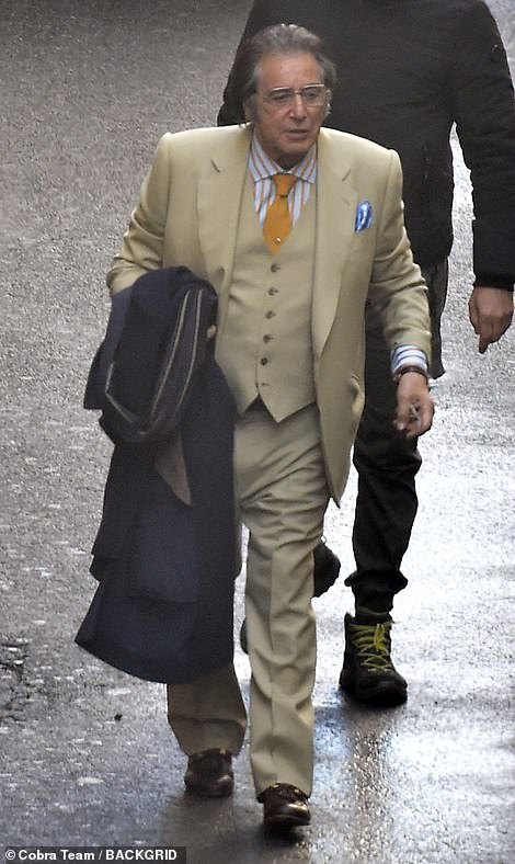 Main man: Gucci shops Chairman Aldo Gucci, played by Pacino in the new film, passed away aged 84 in 1990 after being diagnosed with prostate cancer