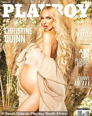 Out now: The TV star's shoot is available in this month's Playboy South Africa