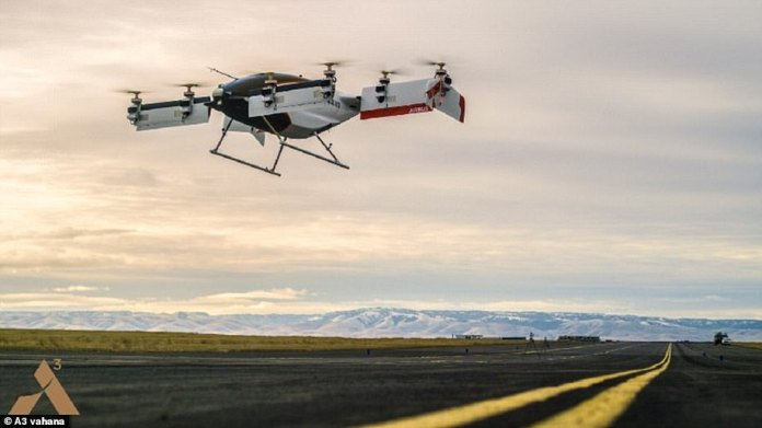 The Airbus Project Vahana prototype, branded Alpha One, successfully completed its first test flight in February 2018.  The self-piloted helicopter successfully reached an altitude of 16 feet (five meters) before returning to the ground.  In total, the test flight lasted 53 seconds