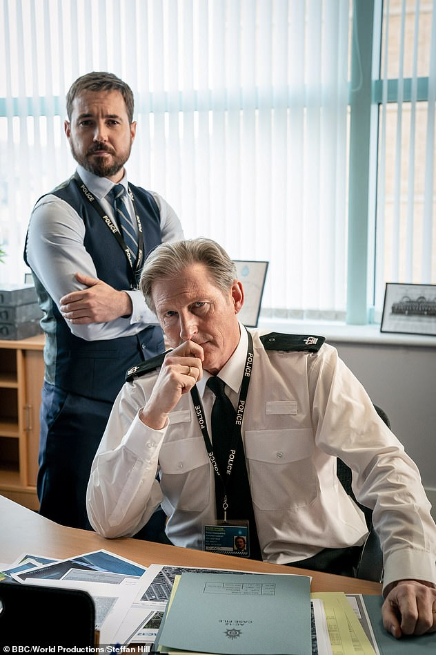 Picture shows DS Steve Arnott (Martin Compston) and, Superintendent Ted Hastings (Adrian Dunbar), centre